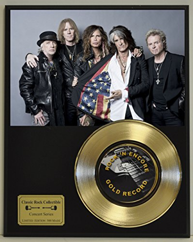 Aerosmith Limited Edition Gold 45 Record Display. Only 500 made. Limited quanities. FREE US SHIPPING