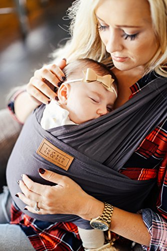 Tuck and Bundle Slate Grey Baby Wrap - Modern - Stylish - Lightweight by Tuck and Bundle