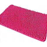 Nice Ustide Microfiber Hot Pink Chenille Rugs Non Slip Bathroom Rug Shag Doormat  Plush Toilet Rug 15.7 By 23.6 Inch