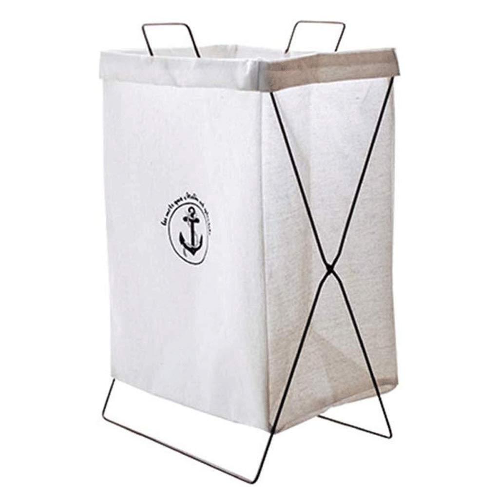 ZLMMY Storage Basket-Laundry Cloth Hamper Sorter Basket Bin Foldable Washing Storage Dirty Clothes Bag for Bathroom Bedroom (Color : A) by ZLMMY