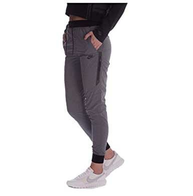 d0f179a7a Nike Women s Bonded Woven Sport Casual Joggers-Gray-XL at Amazon Women s  Clothing store