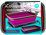 Collapsible Washing Up Bowl - Ideal for Camping (Colours may vary)