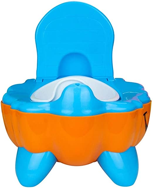Baby Kids Toddler Plastic Potty Toilet Seat Chair Trainer Training Seat Feet for Boys and Girls Mint Duck