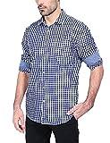 Mens Long Sleeve Shirt Plaid Button Down Casual Dress Shirts XL offers