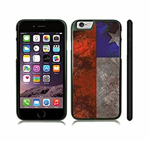 iStar Cases? iPhone 6 Plus Case with Chile Flag Distressed Grunge Look Design , Snap-on Cover, Hard Carrying Case (Black)