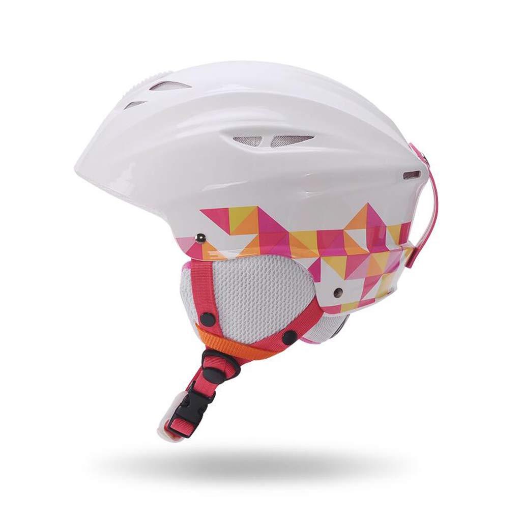 スノーボード&スキーヘルメット、 スキー用保護安全キャップ スケートボードスケートヘルメット 調節可能なヘッドバンド 大人、子供、青少年 B07NJSTB1R 白 Medium Medium|白