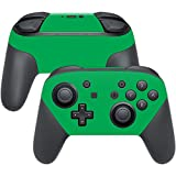 MightySkins Protective Vinyl Skin Decal for Nintendo Switch Pro Controller wrap cover sticker skins Solid Green