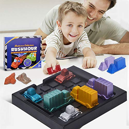 - DishyKooker Children Rush-Hour Traffic Jam Logic Game IQ Car Parking Puzzle Toy