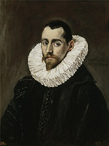 Polyster Canvas ,the Best Price Art Decorative Prints On Canvas Of Oil Painting 'El Greco A Nobleman (II) 1600 05 ', 10 X 13 Inch / 25 X 34 Cm Is Best For Kitchen Gallery Art And Home Artwork And Gifts