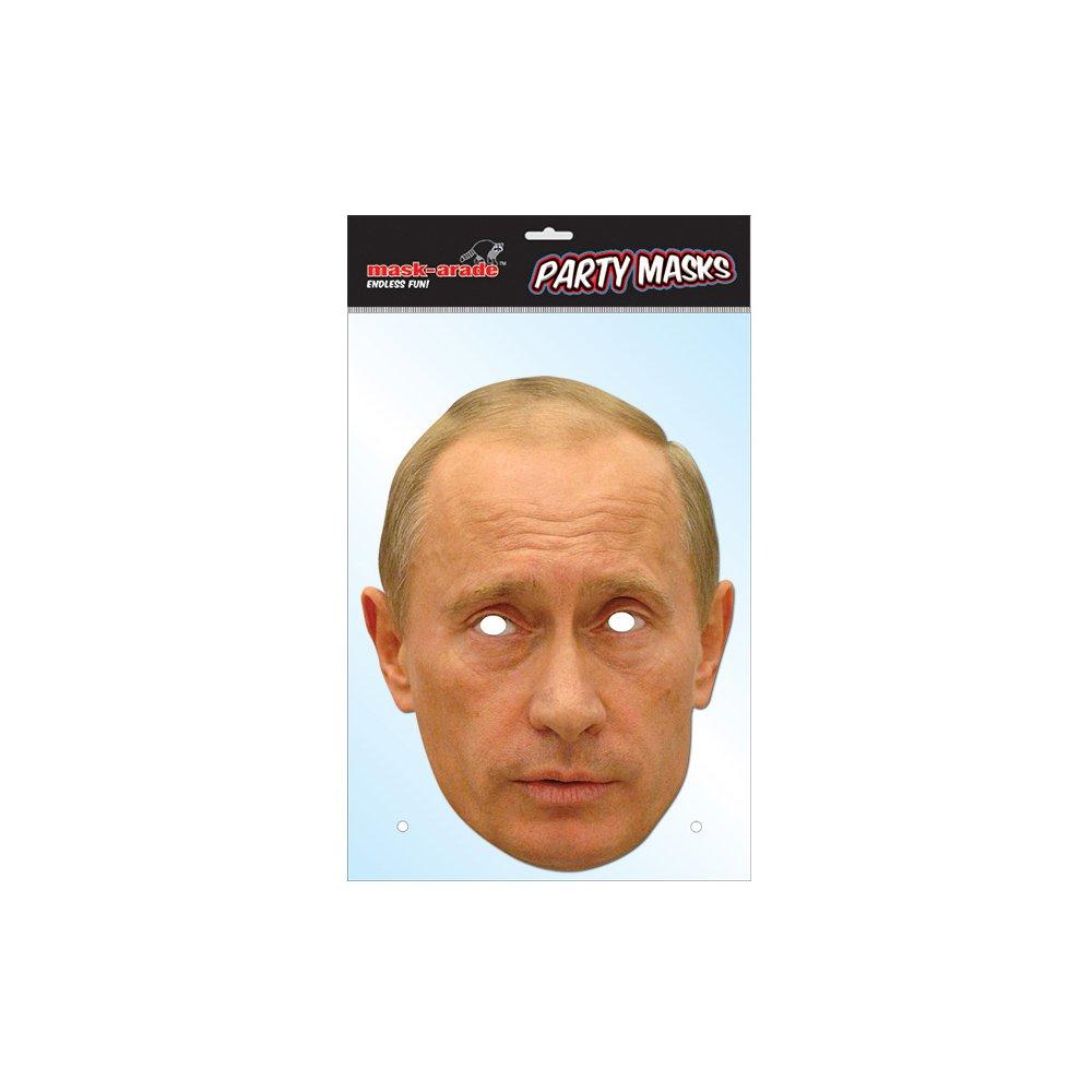 Amazon.com: Vladimir Putin Celebrity Paper Mask: Mask-arade: Toys ...
