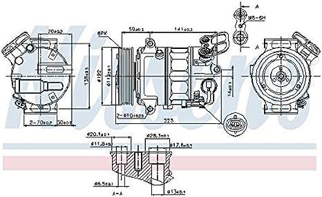 Nissens 89420 Sistemas de Aire Acondicionado: Amazon.es ...