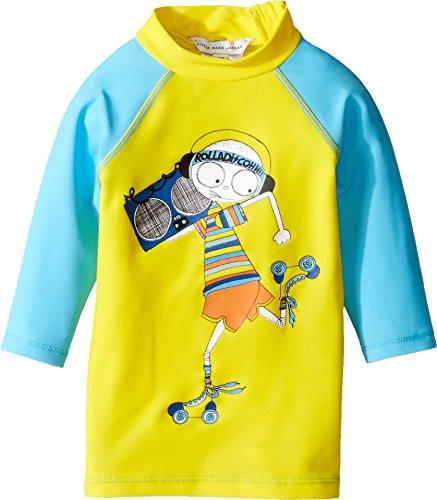 Little Marc Jacobs Baby Boy's Swimsuit Long Sleeve Tee Shirt (Infant) Jaune/Bleu Swimsuit Top Marc Jacobs Suits