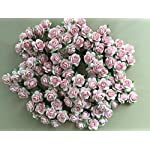 100-Pcs-Hight-Quality-Pink-Color-002-Mulberry-Paper-Flowers-of-Wedding-Roses-20mm-By-Thai-Decorated