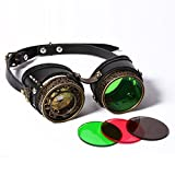 JACKDAINE Retro Victorian Steampunk Goggles Cosplay Party Props