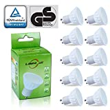 Lampaous 5W GU10 LED Bulb Cool White LED GU10 Spot lights 450lm Bright White LED Light Bulb 50W Gu10 halogen Equivalent, 120 Degree Beam Pack of 10 U