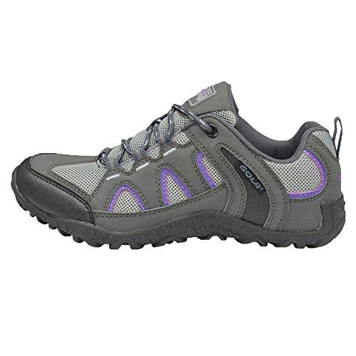 Gola - Zapatillas de senderismo de Material Sintético para mujer marrón marrón Grey Purple Black