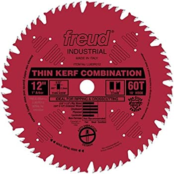 Freud 12 Quot X 72t Thin Kerf Sliding Compound Miter Saw Blade