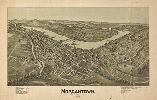Map: 1897 Morgantown, West Virginia 1897 Morgantown Morgantown West - Stores Morgantown