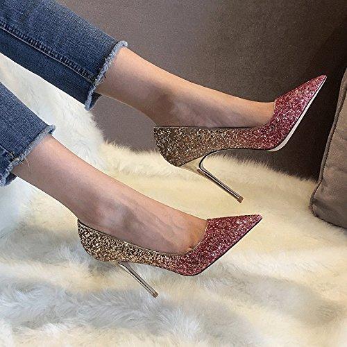 Zapatos de Tacón Alto con Cristales Puntiagudos Segundo