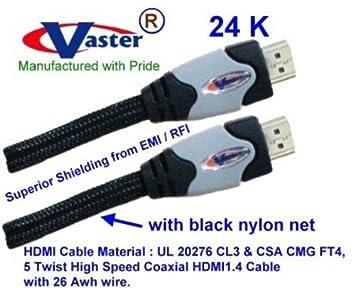 2 pcs/Pack, HDMI1.4 Cable, HDMI de Alta Velocidad 1.4 V
