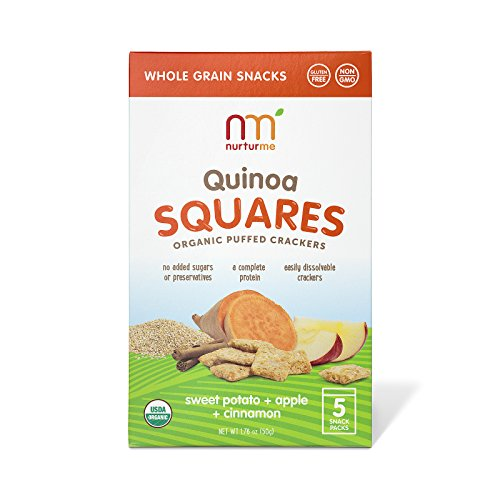 NurturMe Organic Quinoa Squares, Sweet Potato/Apple and Cinnamon, 5 Count (Pack of 6)