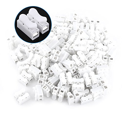 Wire Connector Asixx 100pcs Quick Terminal Spring Clamp Terminal10a