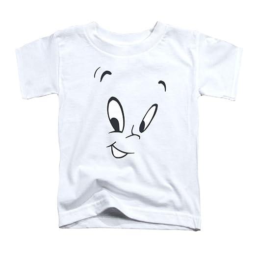 84f8557a1 Amazon.com: Casper The Friendly Ghost Cartoon Face Peek-A-Boo Little Boys  Tod Tee: Clothing