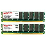 Komputerbay with Samsung semiconductors 2GB (2x 1GB) DDR DIMM (184 PIN) 400MHz PC3200 desktop memory