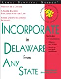 Incorporate in Delaware from Any State, Mark Warda, 1572482303