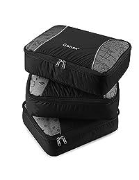 Gonex Packing Cubes Set 3PCs Travel Organizers Luggage Organizers Pouches (Black)