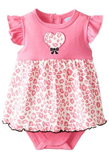 [BON BEBE Baby-Girls Newborn Hearts and Animal Print Sleeveless Sundress, Multi, 6-9 Months] (Baby Animal Dresses)