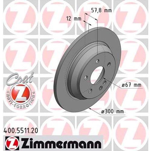 ZIMMERMANN BREMSSCHEIBEN /Ø 2 mm BREMSBEL/ÄGE SET HINTEN