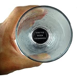 Funny Guy Mugs You Have Just Been Poisoned 16 oz Pint Glass