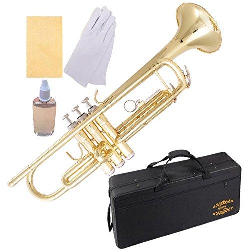 Trompeta dorada BB con funda y accesorios Glory (xmp)