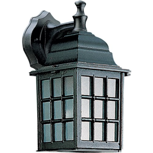 Quorum 798-15 Thomasville - One Light Wall Lantern, Black Finish with Opal Glass ()