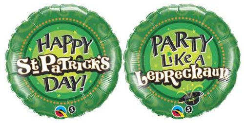 with St. Patrick's Day Balloons design