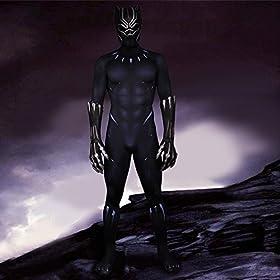 - 51ANUy8Qj5L - Joyfunny Panther Muscle Chest Battle Suit Costume 3D Black Jumpsuit