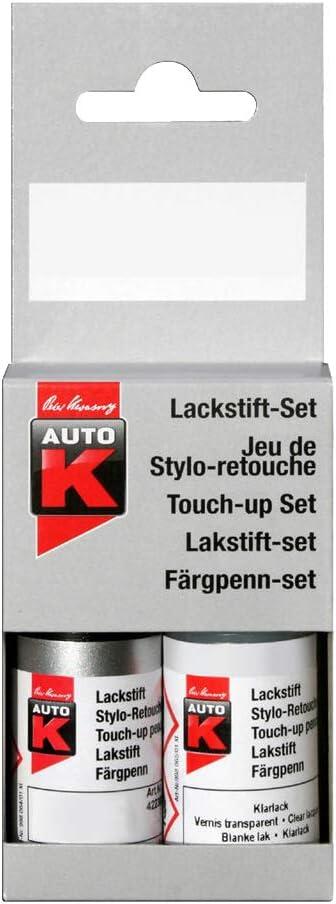 Kwasny Auto K Lackstift 2 Schicht Lack Stift Original Farbton Brillantsilber 744 9 Ml Auto