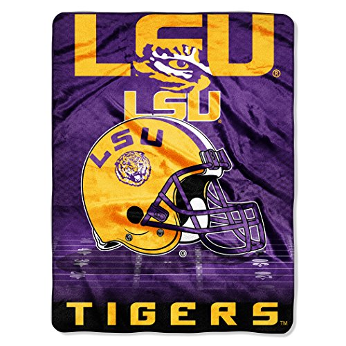 - The Northwest Company Officially Licensed NCAA LSU Tigers Overtime Micro Raschel Throw Blanket, 60