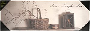 """Kennedy's Country Collection 71359 - 10"""" x 30"""" x 3/4"""" - """"Live Laugh Love"""" Battery Operated LED Lighted Canvas (Batteries Not Included)"""