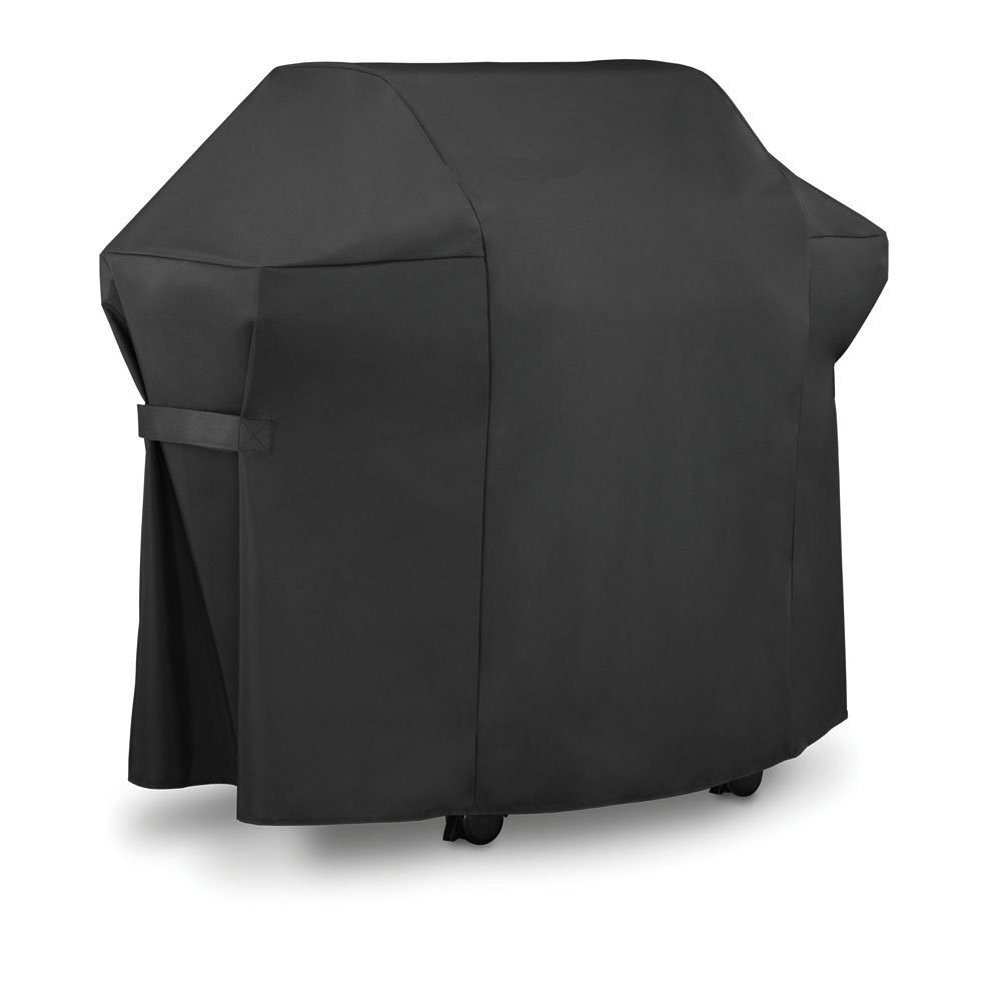 Hersent Outdoor BBQ Grill Cover Cube Square Gas Grills Dust Proof Cover with Closed Strap For Patio Garden Backyard Beach Barbeque Activity Waterproof & Weather Resistant HZC02-B Black S