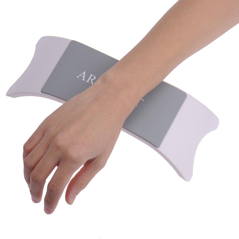 Cómodo silicona Nail Art Salon de almohada cojín de plástico Mano titular uñas brazo resto accesorios de manicura herramienta zsl