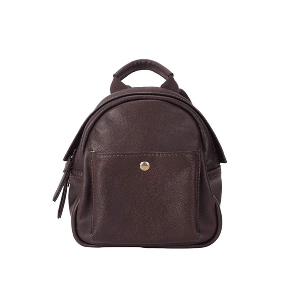Color : Brown CarrieyukiCarrie Mini Leather Backpack for Women Genuine Leather Top Handle Bags Shoulder Bag School Backpack Travel Daypacks for Girls