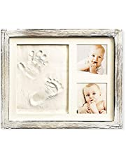 Baby Hand and Footprint Kit in Rustic Farmhouse Frame, a Baby Registry Must Have - Baby Handprint Kit, Baby Footprint Kit, Baby Nursery Décor