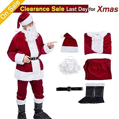 Christmas Santa Claus Costume Santa Suits Santa Costume for Men Adult Costume