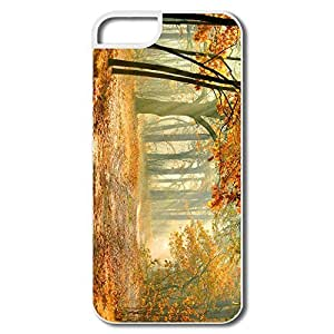 IPhone 5S Cases, Real Enchanted Forest White Cases For IPhone 5S