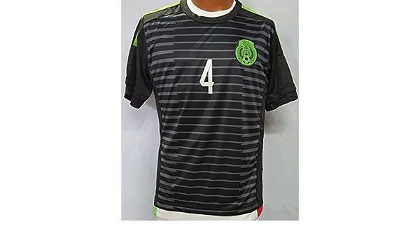 Nuevo México equipo nacional Rafael Márquez Away negro réplica de la camiseta adulto mediano: Amazon.es: Deportes y aire libre