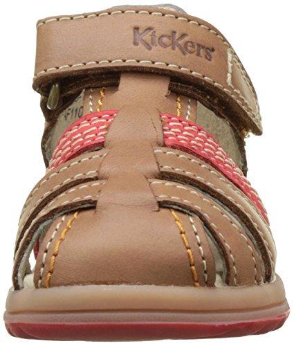Kickers Baby Jungen Platiback Krabbelschuhe Marron (Camel Rouge)