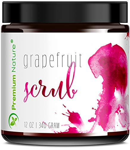 Exfoliating Grapefruit Face Body Scrub - Best Skin Exfoliator for Face Hand Lip & Body with Sea Salt & Shea Butter Acne & Eczema Treatment Facial Scrubs Exfoliate Stretch Mark Packaging May Vary