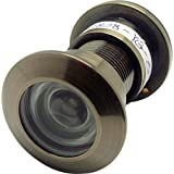 """Togu TG3828NG-AB Brass UL Listed 220-degree Door Viewer with Heavy Duty Privacy Cover for 1-3/5"""" to 2-1/6"""" Doors, Antique Bronze Finish"""